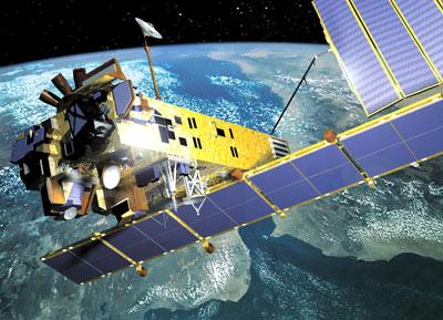 Satellite Envisat de l'ESA (crédit : EADS Astrium)