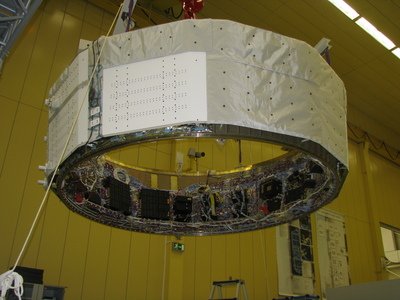 The Equipped Avionics Bay (EAB) before its flight to Bremen, Germany.