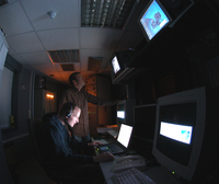Control room at ESA's Optical Ground Station