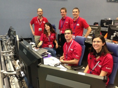 Happy faces on the ATV-4 Engineering Support Team