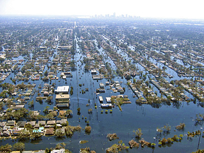 New Orleans flooded in the days following Katrina