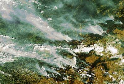 Smoke over Moscow