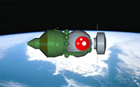 The unmanned Foton capsules are based on the Russian Vostok capsule, in which Yuri Gagarin was put into orbit in 1961.