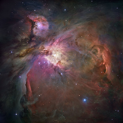 The Orion Nebula as seen by the Hubble Space Telescope