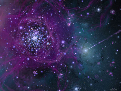 Artist's impression of the birth of our Galaxy