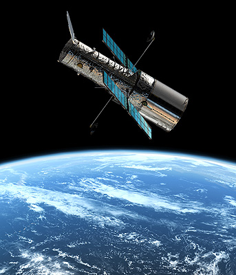 Hubble Space Telescope  in orbit