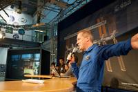 ESA astronaut Frank de Winne moderated the in-flight call