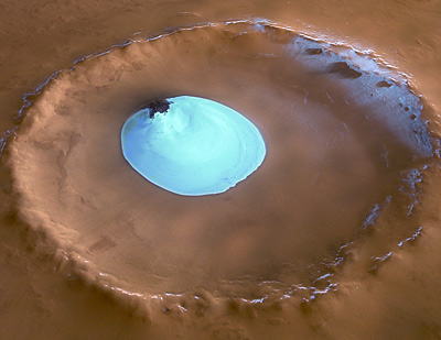 Residual water ice in Vastitas Borealis Crater
