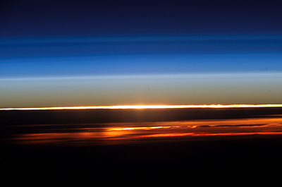 Sunset from ISS