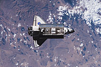 Endeavour docks with ISS