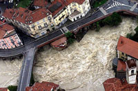 Floods in Ivrea (Italy)