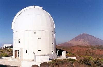 La station sol optique de l'ESA à Ténériffe