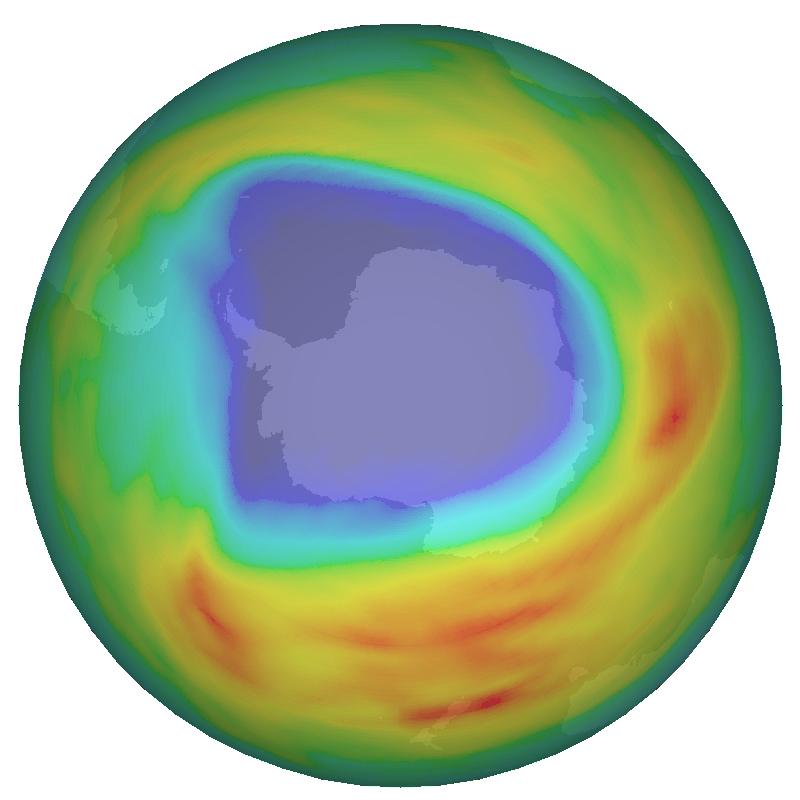 Le trou dans la couche dozone plus large que lannée 2007
