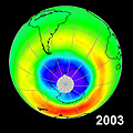 10 years of ozone hole monitoring