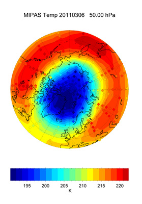Arctic temperature field