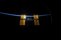 International Space Station seen from Discovery
