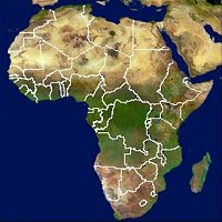 SPOT-4 vegetation image of Africa
