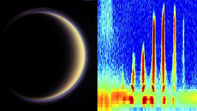 Particules de base organiques dans l'atmosphère de Titan
