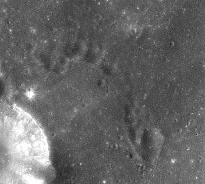 Chandrayaan-1 image of the Moon's surface