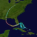The track of Hurricane Katrina