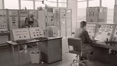 View of the control room at Redu ground station in July 1969.