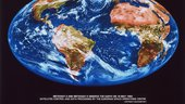 Composite view of Earth as observed from geostationary orbit by ESA's Meteosat 3 and 4 weather satellites on 16 May 1993