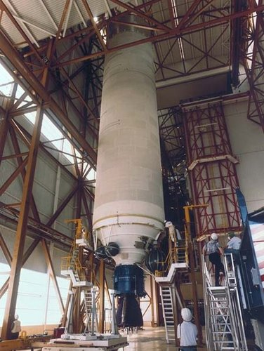 Ariane-5 core stage processing