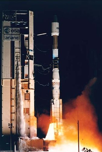 Ariane launch of ISO