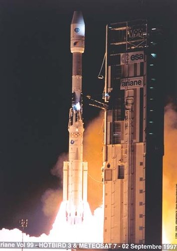 Ariane launch of Meteosat-7, 1997