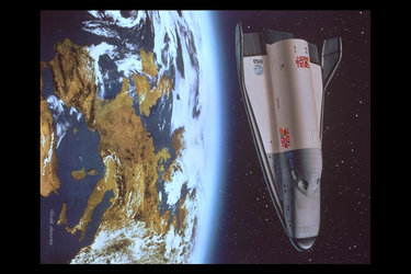 Artist's impression of Hermes before re-entry