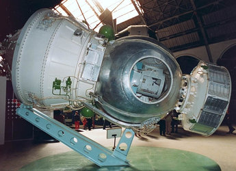 Bion-6 spacecraft displayed