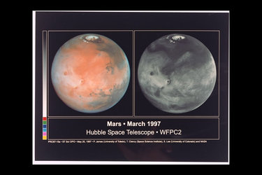 Comparison view of Mars cloud cover