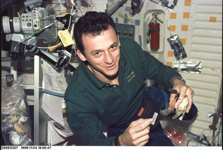 Duque during STS-95 mission