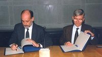 ESA and ASI sign ISS Node agreement, December 1997