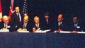 ESA DG signs ISS agreement, January 1998