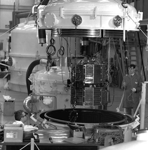 ESRO-2 in ESTEC Test Centre