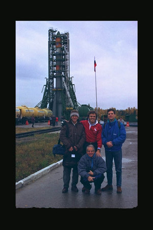 Foton-11 on launch pad
