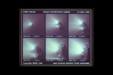 Giotto images of Comet Halley