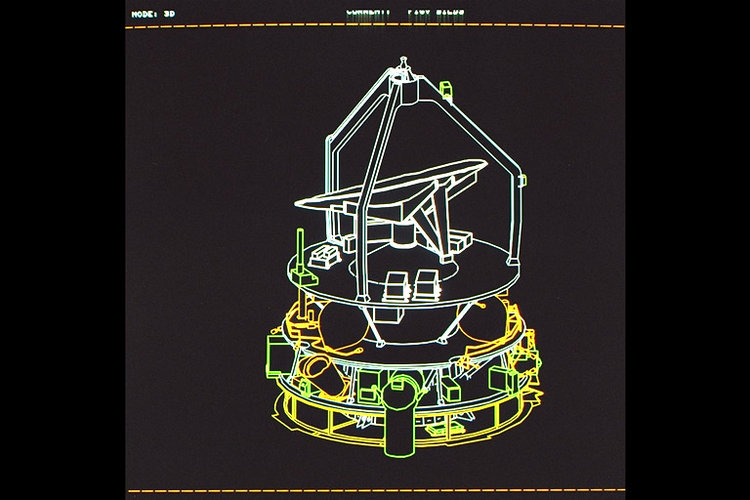 Giotto spacecraft cutaway