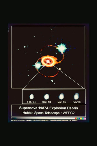 Hubble reveals structure of Supernova 1987A debris