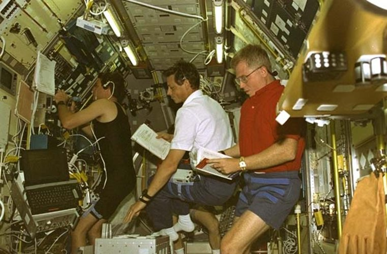 LMS Spacelab in orbit