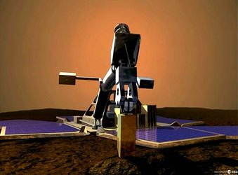 Mars Express lander on surface