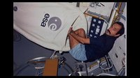 Ockels' Spacelab sleep restraint