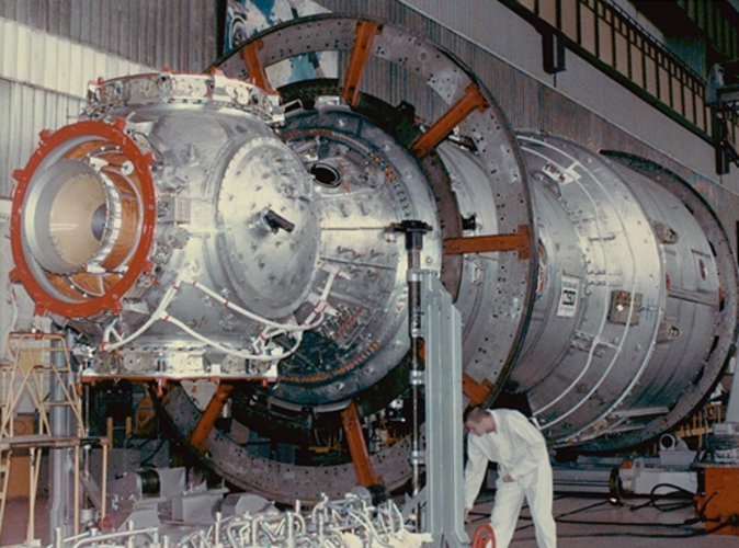 Russian Service Module under assembly