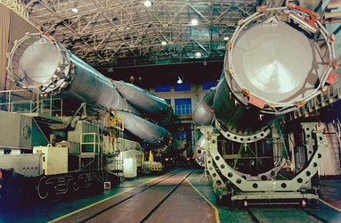 Soyuz-U launcher ready for Bion-10