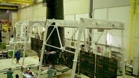 XMM solar array deployment test