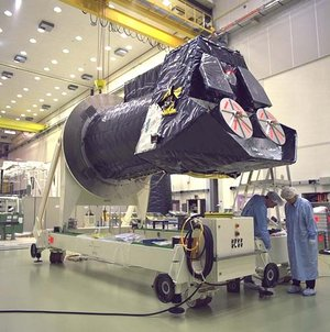 XMM upper module arrives at ESTEC