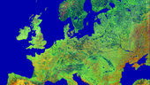 Europe as seen by the ERS satellite