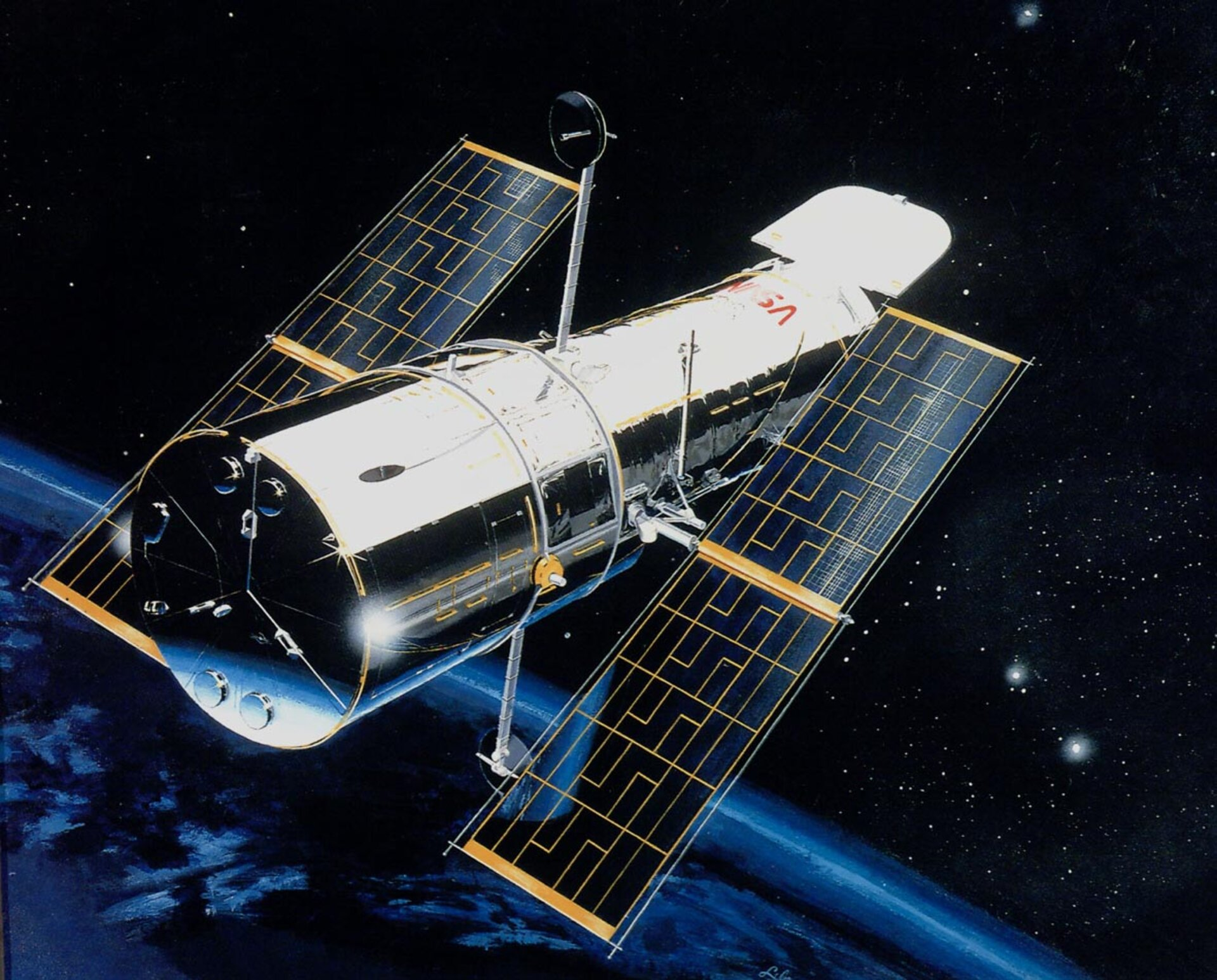 Hubble Space Telescope (HST), courtesy of NASA