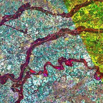 ERS-2 SAR image of flooding in the Netherlands